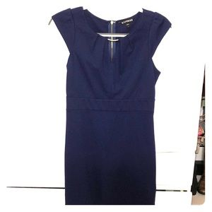 LIKE NEW Express Navy Blue Dress